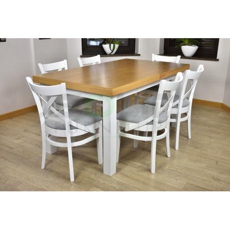 Zes. 21 (Stół Kant + Krzesła A57 białe)