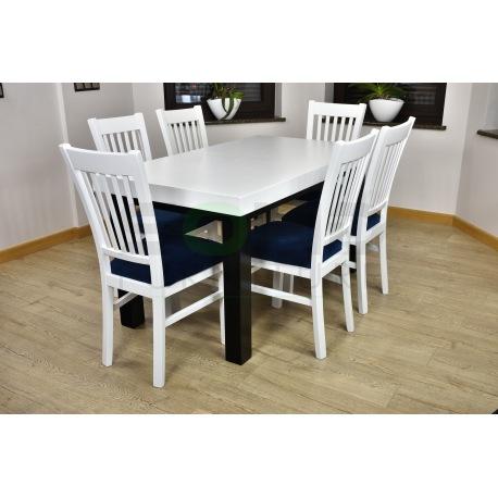 Zes. 22 (Stół Kant Szeroki + Krzesła Zbyszek białe)
