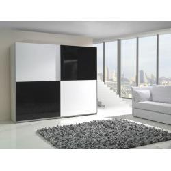 Szafa LUX czarno-białe fronty