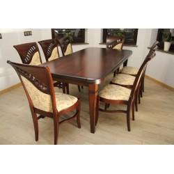 Zes. 1 (Stół drewniany Brylant + Krzesła Szafir)