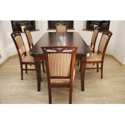 Zes. 11 (Stół Brylant, noga Diament + Krzesła Ela)