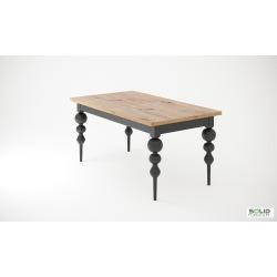 Stół Palermo Ball stół z toczonymi nogami kulami