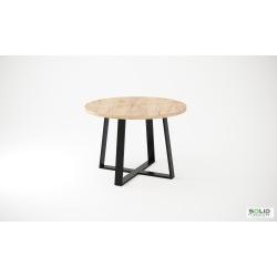 Stół okrągły loftowy Krzyżak