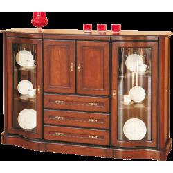 Komoda stylowa z szufladmi i ze szkłem Fala 11
