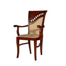 Krzesło z podłokietnikami do salonu Szafir