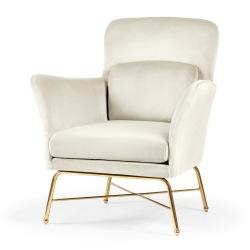 Elegancki fotel ze złotymi nóżkami Valia
