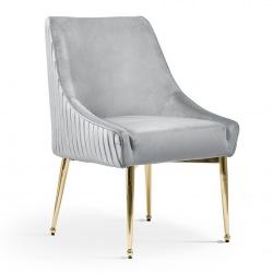 Krzesło Leonardo ze złotymi nogami