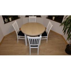Stół okrągły+ 4 krzesło Zbyszek