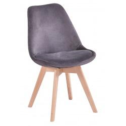 Krzesło skandynawskie szare Doris