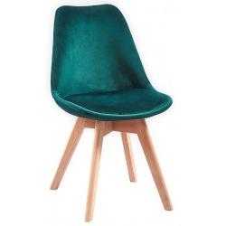 Krzesło skandynawskie zielone Doris
