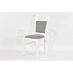 Krzesło Kratka Stylowa Białe