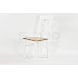 Krzesło Krzyżak I drewniane siedzisko