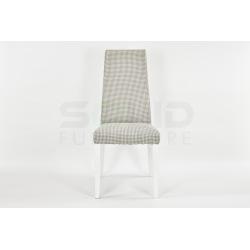 Krzesło Tapicerowane Wysokie, białe nogi