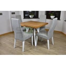 Zes. 19 (Stół Zuzanna kwadrat + krzesła Tapicerowane Wysokie)