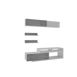 Mebloscianka Lu biel + dąb sonoma/beton
