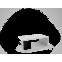 Ława Max biały + czarny połysk