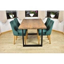 Stół loft Magnus + 4 krzesła tapicerowane Natalia