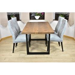 Stół loft Magnus + 4 krzesła Łucja