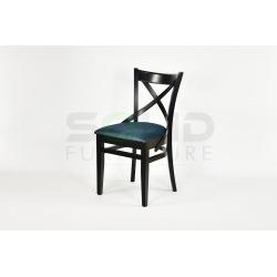 Krzesło KRZYŻAK PÓŁOKRĄGŁE czarne