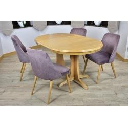Stół okrągły Ventus + 4, 6  krzeseł Jenefer
