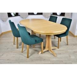 Stół okrągły Ventus + 4, 6  krzeseł Natalia