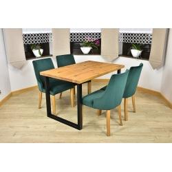 Stół loft Liza + 4, 6 krzeseł Natalia