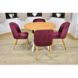 Stół Karo + 4 krzesła Muszelka