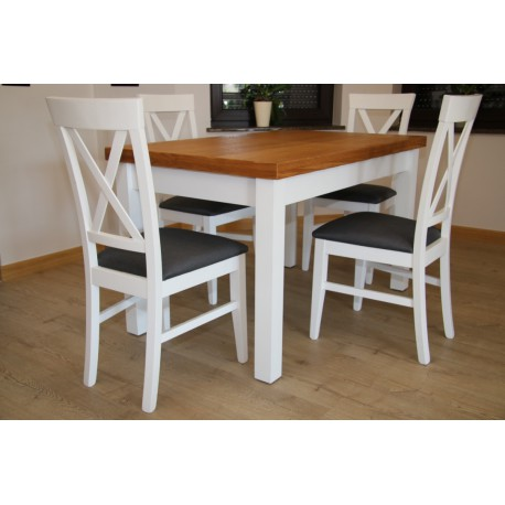 Stół Marsylia z krzesłami Krzyżak