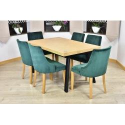 Stół loftowy Tulia + 6 krzeseł Natalia