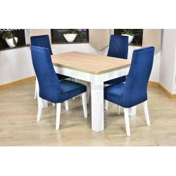 Stół 8 nóg laura + 4 krzesła Łucja karo