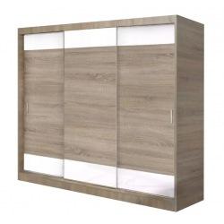 Szafa przesuwna Emil 210- 250 cm z panelami lacobel