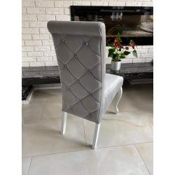 Krzesło tapicerowane Luiza ozdobne oparcie