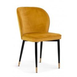 Krzesło Anais noga czarna ze złotą końcówką