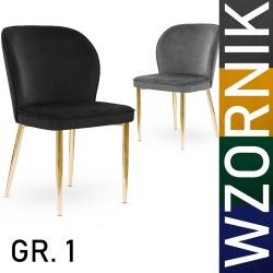 Krzesło Anais noga złota tkaniny grupa I