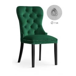 Krzesło glamour Madeline zielone