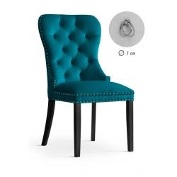 Krzesło glamour Madeline morskie z małą kołatką