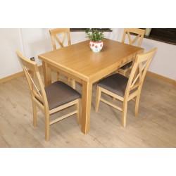 Stół Wabik130x80x50 + 4 krzesła krzyżak