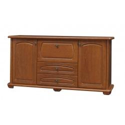 Stylowa komoda 150 cm do salonu z szufladami Mieszko
