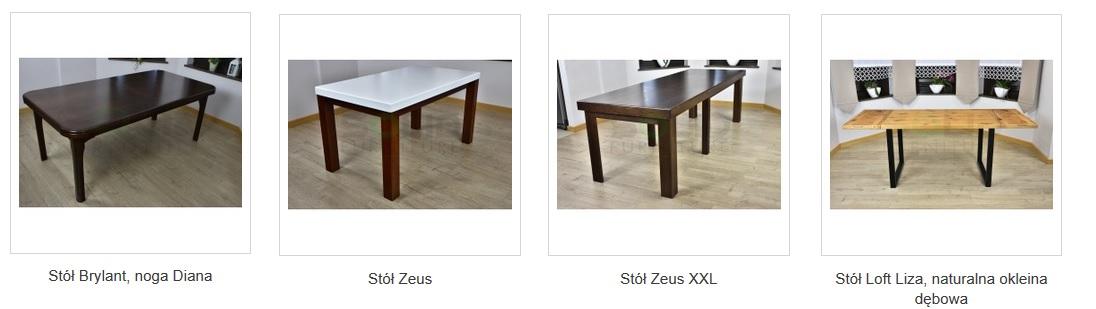 stoły obłogowane