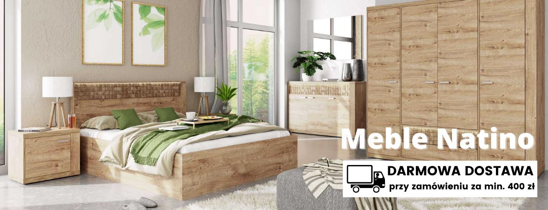 Meble do sypialni Natino w stylu minimalistycznym